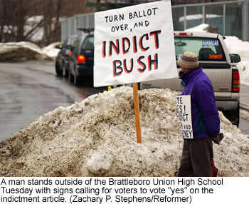 Vermont Town Doesn't Like Bush/Cheney