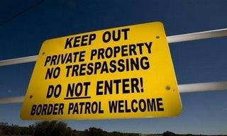 Sign on Robert Barnett's Property