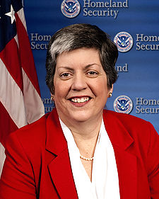 Janet Napolitano, betrayer of the American People.  Department of Homeland Security, the biggest joke in US history!