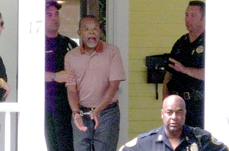 Henry Louis Gates under arrest